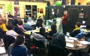 NPR's Jason DeRose teaches a class in ethics to the KALW news department and Audio Academy.